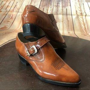 Cuevas Boots Women Leather Booties Western 6 23.5